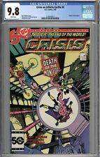 Crisis On Infinite Earths #4 CGC 9.8 NM/MT Death of the Monitor WHITE PAGES