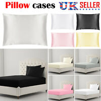 100% COTTON 1x Pack PILLOW CASES LUXURY CASE HOUSEWIFE BEDROOM PILLOW COVER