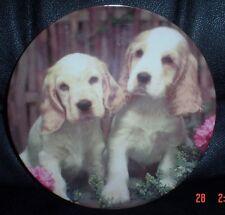 Cocker Spaniel+Rose /'Mum/' Gold Rim Plate in Gift Box Christmas P AD-SC13R2lymPL