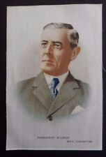 PRESIDENT WILSON United States Original WWI SILK issued in 1916 POSTCARD SIZE