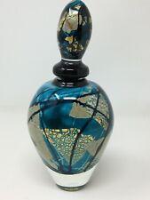 Vintage Flacon Parfum Murano Art Glass Copeaux d'Or Verrerie