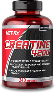 MET-Rx Creatine 4200 Supplement Supports Muscles Pre & Post Workout 240 Capsules