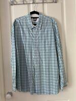 Sportcraft Green Check Cotton Long sleeve Men's Shirt Size XXL Tapered Fit
