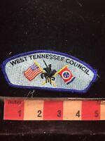 Vtg (circa 1980s) WEST TENNESSEE COUNCIL BSA Boy Scout Flap Patch C77S