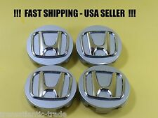 4 Wheel Center Hub Caps For Honda 58mm Silver Chrome Civic USA SELLER