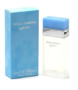 Dolce & Gabbana Light Blue Women Eau De Toilette 3.3 Oz EDT Perfume New & Sealed