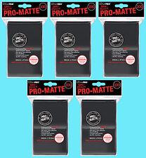 500 ULTRA PRO BLACK PRO-MATTE STANDARD SIZE DECK PROTECTORS Card Sleeves MTG