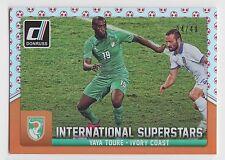 YAYA TOURE 2015 Donruss Soccer International Superstars Red Soccer Ball #/49