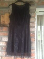 Black Gothic Lace and Net Dress/Smart Dress. Mela Loves London. 14. Excellent.