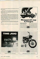 1969 ADVERT Yamaha Grand Prix 350 Revell Model Henry J Drag Coupe The Jug Plane