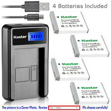 Kastar Battery LCD USB Charger for Canon NB-6L NB-6LH & Canon PowerShot SX240 HS