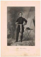 Ormsby M. Mitchel 1863 Steel Engraving Print Major General Civil War, Professor