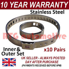 CV BOOT CLAMPS PAIR x10 UNIVERSAL GARAGE TRADE PACK FITS ALL CARS KIT 1.10