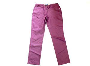 CECIL Jeans Hose Leder Optik W 32 L 32 lila dunkel straight JANET Nieten TOP #43