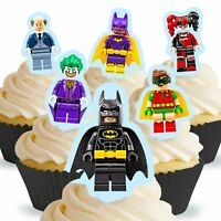 Cakeshop 12 x PRE-CUT Lego Batman Stand Up Edible Cake Toppers