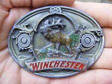 Vtg WINCHESTER ARMS Belt Buckle 1995 Bergamot 30-06 AMMO ELK GUN Rifle RARE VG++