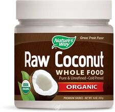 Organic Raw Coconut Whole Food 16 oz (454 grams) Solid Oil