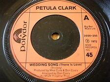 """Petula Clark-Canción de boda (hay amor) 7"""" Vinilo"""