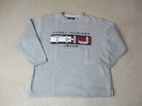 VINTAGE Tommy Hilfiger Sweater Adult Medium Gray Red Flag Spell Out Mens 90s *