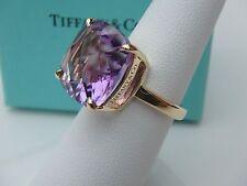 NYJEWEL Tiffany & Co. 18k Solid Gold 8.5ct Solar Amethyst Ring