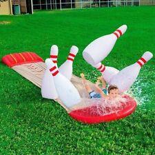 Bowling Acqua Scivolo Ferroviario Gonfiabile 6 Birilli 549cm Giardino piscina