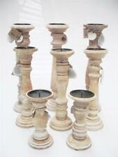 Wooden Country Candelabra Candle & Tea Light Holders