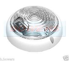 12V/24V UNIVERSAL WHITE CAMPERVAN LARGE ROUND SWITCHED LED INTERIOR LIGHT LAMP