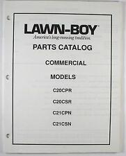 Lawn Boy 1989 Commercial Models Parts Catalog C20CPR C20CSR C21CPN C21CSN