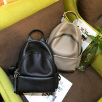 Real Leather Small Mini Backpack Rucksack Daypack Travel bag Purse Cute Retro