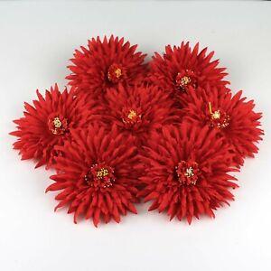 5Pcs Red Bulk14cm Artificial Large Chrysanthemum Fake Flower heads Wedding Decor