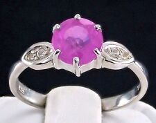 1.98ct Genuine Pink Sapphire Solitaire 925 Solid Sterling Silver Ring Size 8