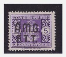 1947 -  TRIESTE A   AMG-FTT SEGNATASSE 5 L. SENZA FILIGRANA  4A   NUOVO **
