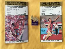 1992 USA US Olympic Track Field Trials Pin & 2Ticket Stubs, Dan O'Brien, Conway