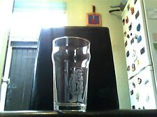 Fred Flintstone Etched Engraved Pint Beer Glass