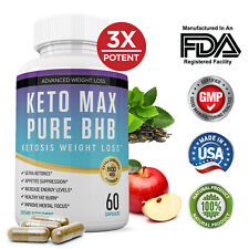 Keto Diet Pills Pure BHB Ketosis Weight Loss Supplement Fat Burner Men Women
