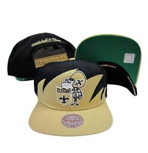 Mitchell & Ness Men's New Orleans Saints Shark Tooth Adjustable Snapback Hat
