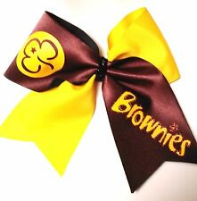 Brownies Cheer Hair Bow Can customize!.