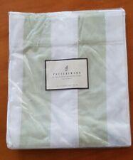 Pottery Barn Classic Stripe Twill 100% Cotton Shower Curtain Sage Celery Green
