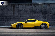 20x9 20X11 +48 Rohana RFX10 5X114.3 Black Wheels FITS 2014 Ferrari 458 STAGGERED