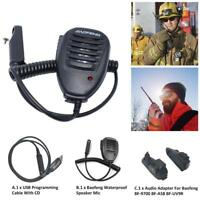 USB Programming Cable w/CD Speaker For Baofeng UV-9R BF-A58 Walkie Talkie Radio