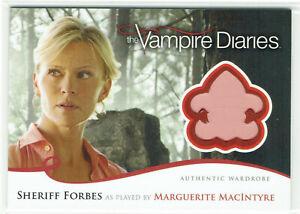 Vampire Diaries Season 2 Wardrobe Card M5 Marguerrite MacIntyre Sheriff Forbes