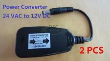 2Pcs 24Volt Ac to 12Volt Dc Cctv Security Camera Power Supply Converter