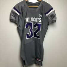 Under Armour Football Jersey Men's L Gray Northwestern University Wildcats NCAA