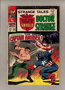 STRANGE TALES #159_AUG 1967_VERY GOOD_DR STRANGE_NICK FURY, CAPTAIN AMERICA!