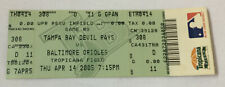 April 14, 2005 baseball ticket TAMPA BAY DEVIL RAYS vs BALTIMORE ORIOLES