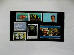NORFOLK ISLAND: Useful Run of 8 Mint stamps