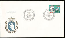 Greenland Flowers Chrysanthemum First Day Cover Greenland Flowers erstag Fdc