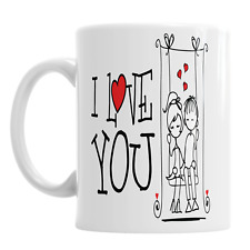 I Love You Valentine's Day Mug Romantic Love Boyfriend Girlfriend Swing