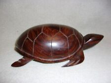 Hand Carved Wooden Turtle Figurine