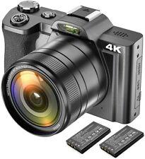 Cámara De Vídeo Digital 4K Videocámara Ultra HD 48MP Wifi Youtube vlogging 16x Zoom